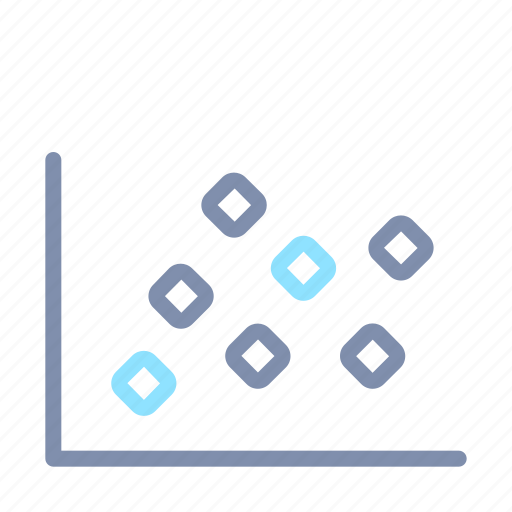 analytics, chart, graph, plot, report, scattered, statistics icon