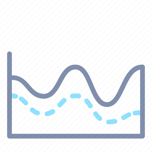 analytics, area, chart, graph, report, stacked, statistics icon