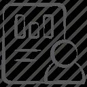 bar graph, user analytics, user infographic, user report, user statistics