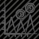 analytics, data visualization, financial area graph, financial chart, mountain chart, statistics