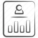 bar graph, employee analytics, user infographic, user report, user statistics