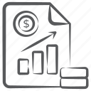 business profit, data analytics, growth chart, infographic, sales report, statistics