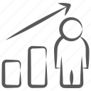 business profit, business report, data analytics, infographic, user growth, user statistics