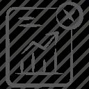 business profit, business report, cross chart, data analytics, growth chart, infographic, statistics