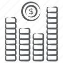 bar chart, bar graph, business infographic, data analytics, financial analytics, statistics