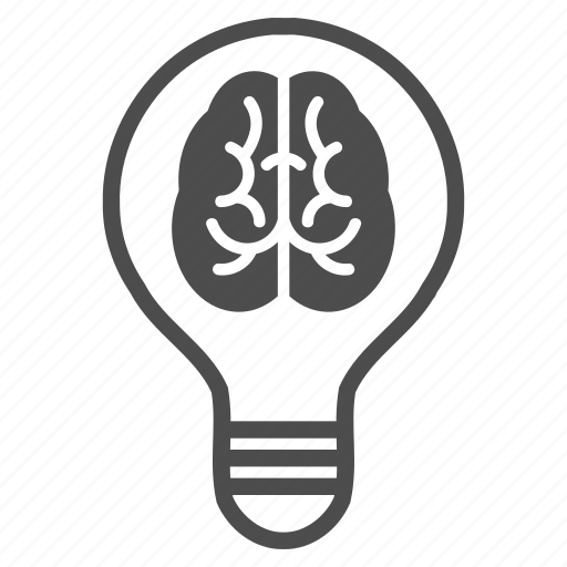 brain, business idea, intellect, knowledge, light, power, solution icon
