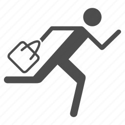 courier, package delivery, runner, running man, service, shipping, transportation icon