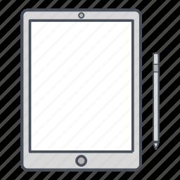 apple pencil, ipad pro, pen, tablet icon