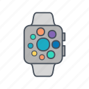 apple, apple watch, clock, gadget icon
