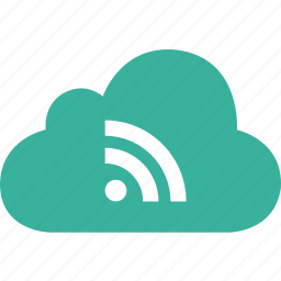 cloud, feed, rss, signal, wifi icon