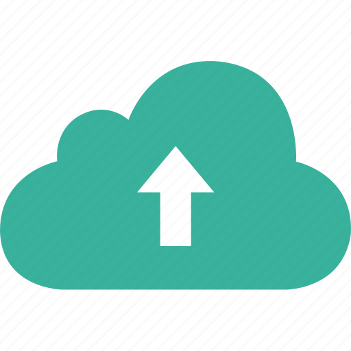 arrow, cloud, data, database, upload icon