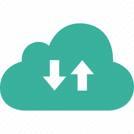 arrows, cloud, down, download, up, upload icon