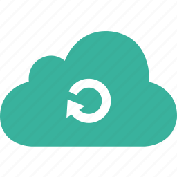 arrow, cloud, refresh, reload, round icon