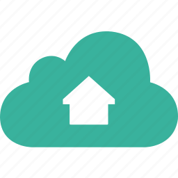 arrow, cloud, dashboard, home, house icon