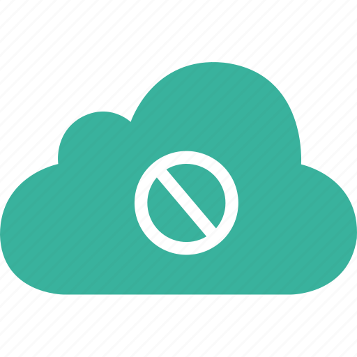 ban, baned, cloud, cross, deny, forbidden icon