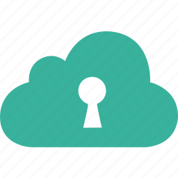 cloud, lock, password, safe, secure, security icon