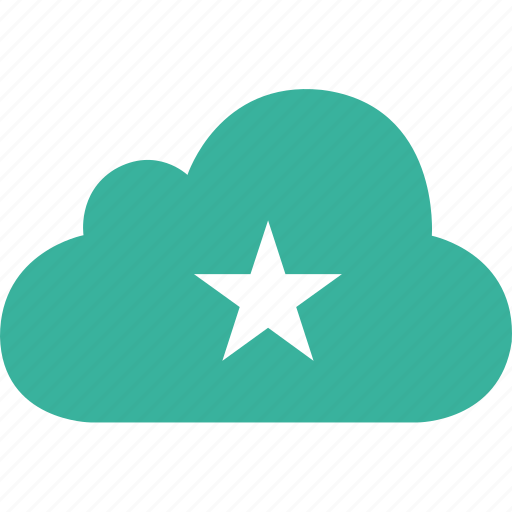 bookmark, cloud, favorite, star icon