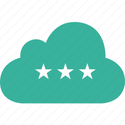 bookmark, cloud, favorite, star, stars icon