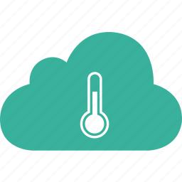 cloud, cold, cool, medical, temperature, thermometer icon