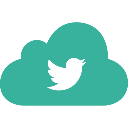 bird, bookmark, cloud, social, twitter icon