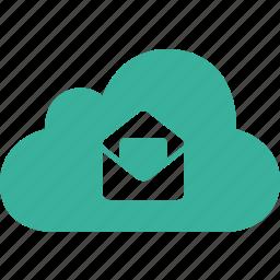 cloud, inbox, mail, message, send, talk icon