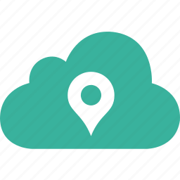 cloud, direction, pin, place, plus, pointer, position icon