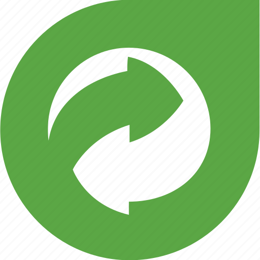 arrows, eco, gree, recycle, shape icon