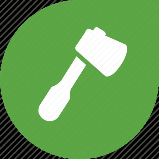 axe, eco, green, metal, tool, wood icon
