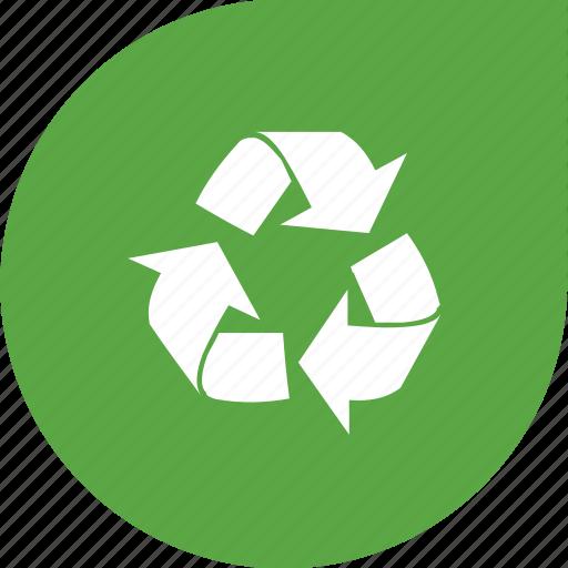 arrow, eco, recycle, shape, three arrows icon