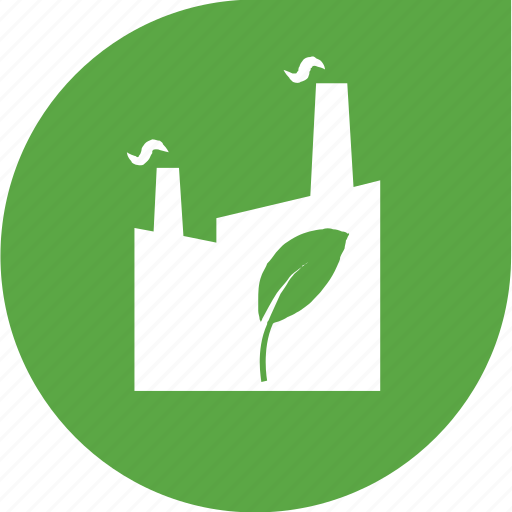 eco, factory, pollution, protection icon