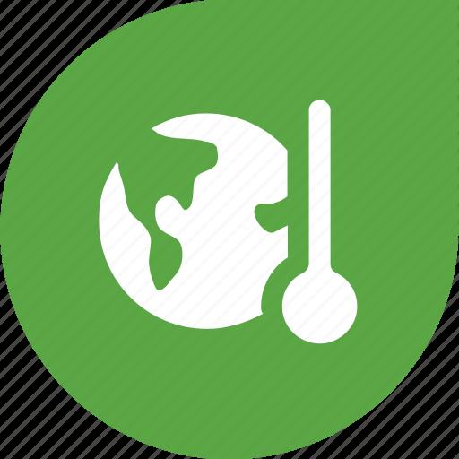 earth, eco, globe, green, temperature icon