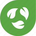 arrows, eco, green, leaves, shape icon