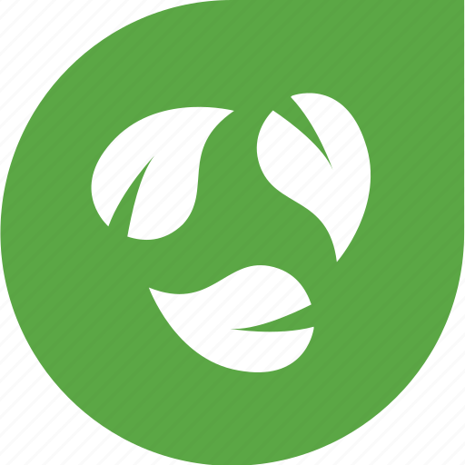 arrows, eco, green, leaves, shape icon