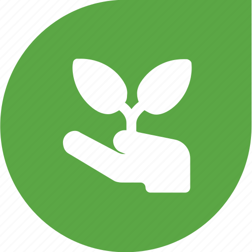 eco, green, humanity, plant, protection icon
