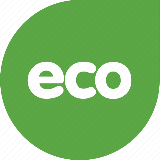eco, green, shape, title icon