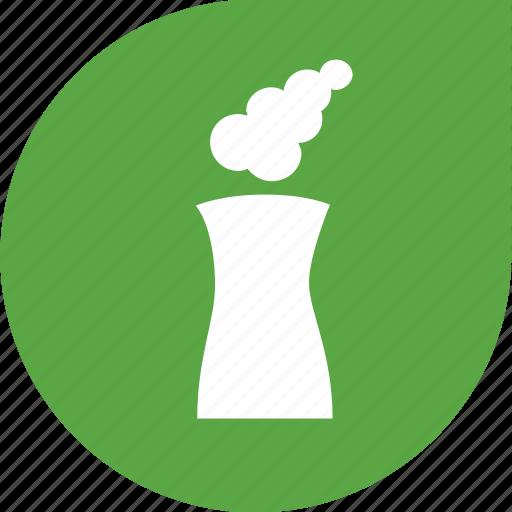 factory, green, polution icon