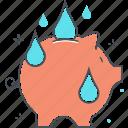 green, pig, pink, saving, water icon