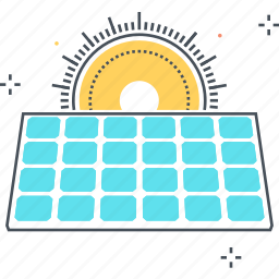 electric, panel, power, solar, sun icon
