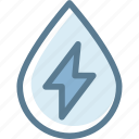 drop water, eco, ecology, energy, energy drink, power, water energy icon