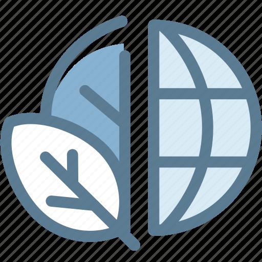eco, ecology, globe green, green, leaf, nature, plant icon