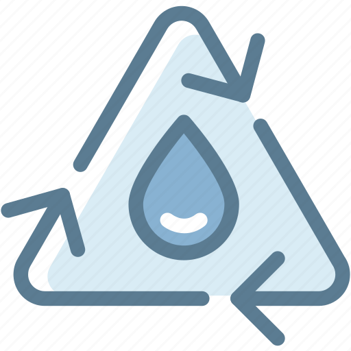 ecology, environment, green, reuse, sustainable, trash, water recycle icon