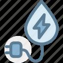 eco, ecology, energy, green, industry, plug, water energy