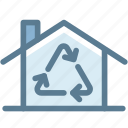 ecology, home, home renovation, house, recycle, renovate, renovation icon