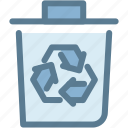 bin, eco, ecology, energy, green, recycle bin icon