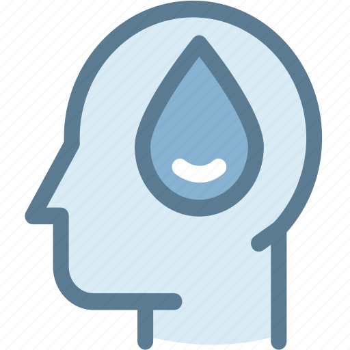 brain, eco, ecology, environment, green, thinking, water conservation concept icon