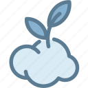 cloud, ecology, globe green, green, leaf, oxygen, ozone icon