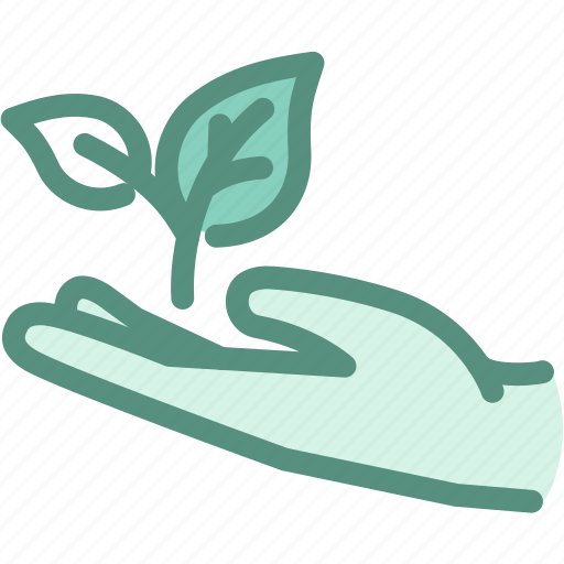 ecology, environmental conservation, farming, green, hand, leaf, startup icon