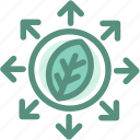leaves, ecology, green, energy, expand the forest icon