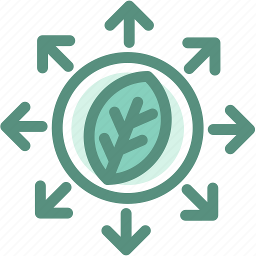 ecology, energy, expand the forest, green, leaves icon