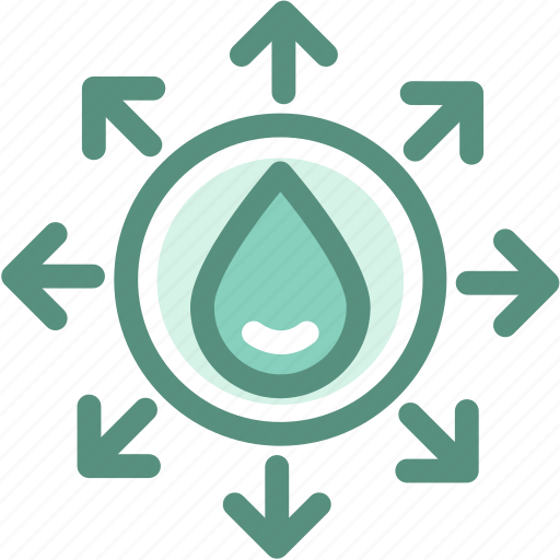 eco, ecology, energy, expand water source, green, watershed icon